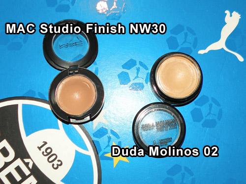 Comparação: Studio Finish MAC NW30 e Corretivo Duda Molinos 02