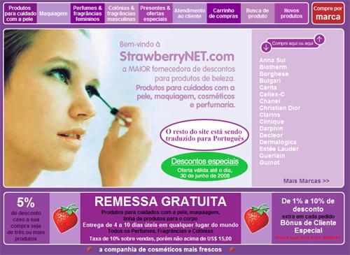 Dica de utilidade pública: compras no site Strawberrynet.com