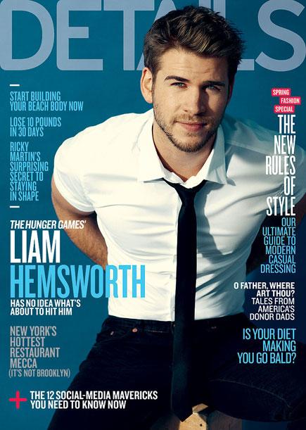 Ô, lá em casa… Liam Hemsworth