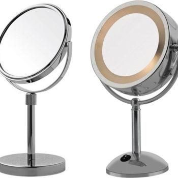 Espelhos de aumento para maquiagem