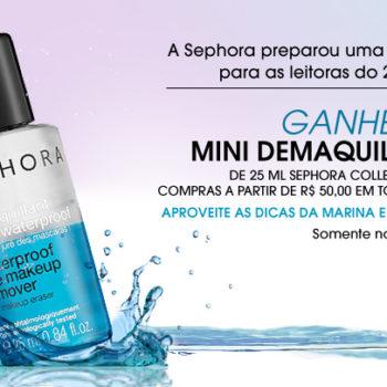 Promo: Ganhe mini demaquilante Sephora em compras acima de $50 *