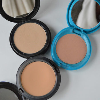 Comparação de cobertura: Studio Fix MAC x Sun Protection Shiseido x Pro Finish MUFE