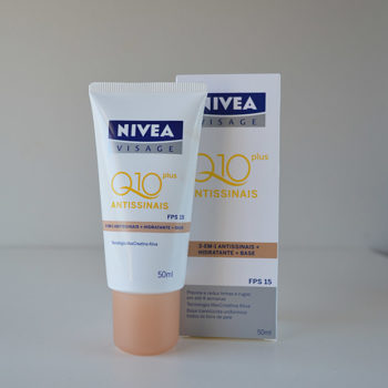 Resenha: Nivea Visage Q10 Plus Antissinais 3 em 1 + Antissinais + Hidratante + Base