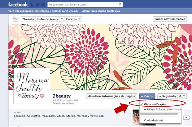 Como receber as atualizações do blog no Facebook