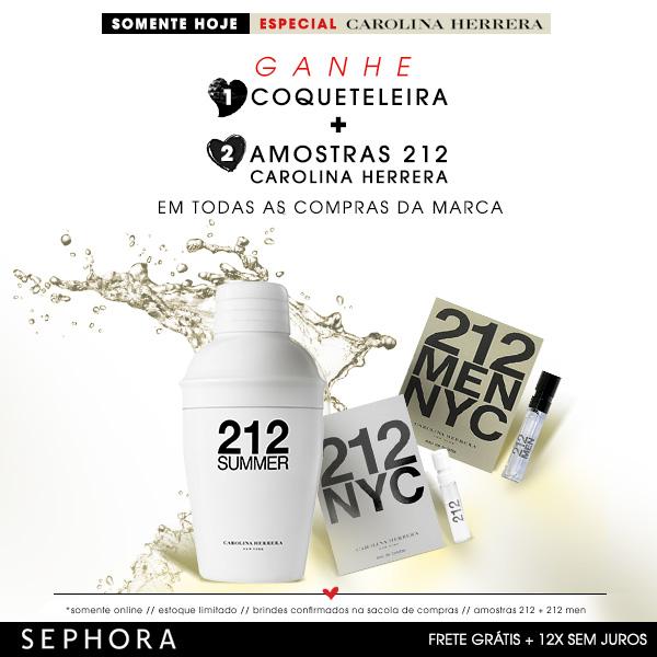 Especial Carolina Herrera no site da Sephora *