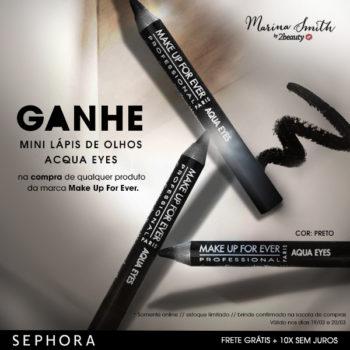 Ação exclusiva 2Beauty + MUFE no site da Sephora *