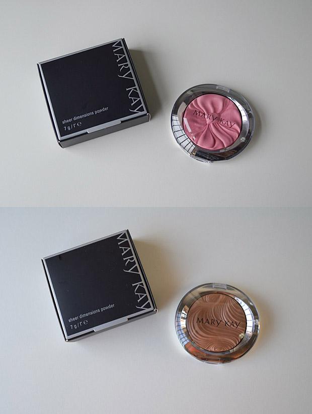Amostrinhas: Sheer Dimensions Powder Ribbon (Pink) e Chiffon (Natural) Mary Kay