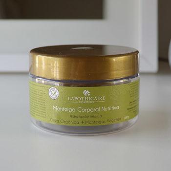 Produtos e Cuidados com a Pele: Manteiga Corporal Nutritiva Oliva e Linhaça L'Apothicaire