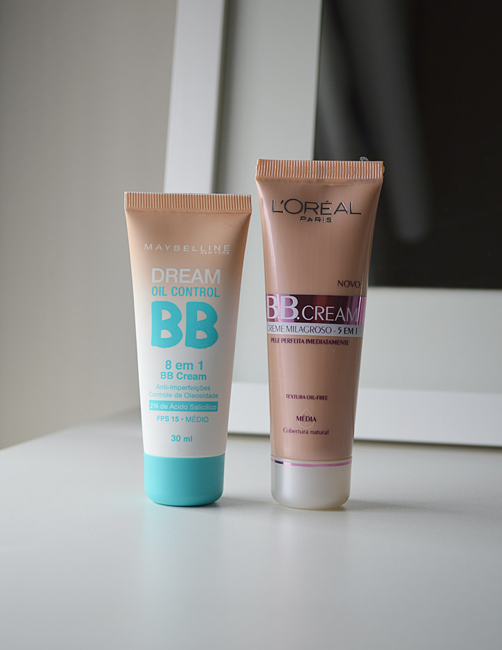 Comparação: BB Cream Dream Oil Control Maybelline x BB Cream L'Oréal