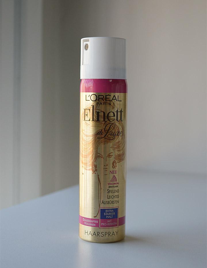 Cabelo: L'Oréal Paris Elnett Satin Very Volume Supreme Hold Hairspray