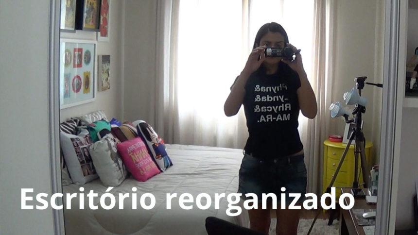Vídeo – Vlog: Novo cantinho de filmagem e tour do escritório