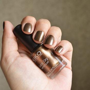 Quarta do Esmalte: Kiko Quick Dry Nail Lacquer #813 Pearly Brown