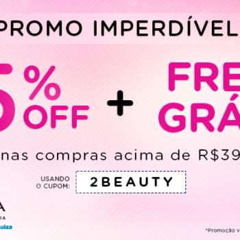 Promo frete GRÁTIS + 15% OFF *
