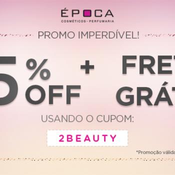 Promo: 15% OFF + frete grátis! *