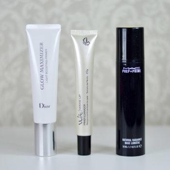 Comparação: Primers Luminosos Dior x Vult x MAC
