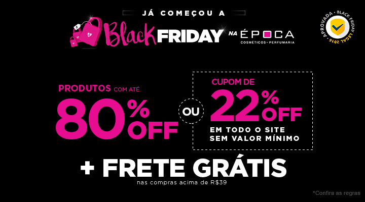 Image result for black friday epoca cosmeticos