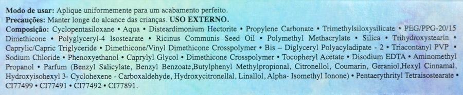 Ingredientes Corretivo Líquido Bruna Tavares
