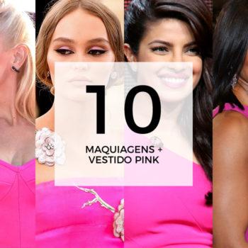 10 maquiagens para combinar com vestido pink