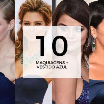10 maquiagens para combinar com vestido azul marinho