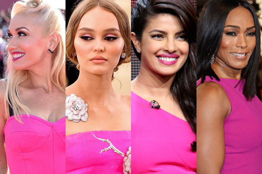 maquiagem para usar com vestido pink