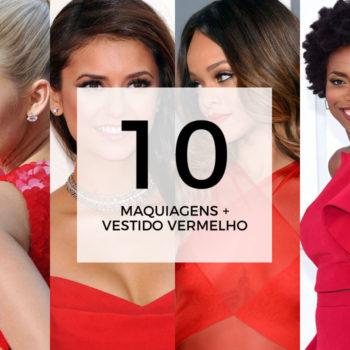 10 maquiagens para combinar com vestido vermelho