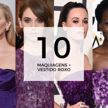 10 maquiagens para combinar com vestido roxo