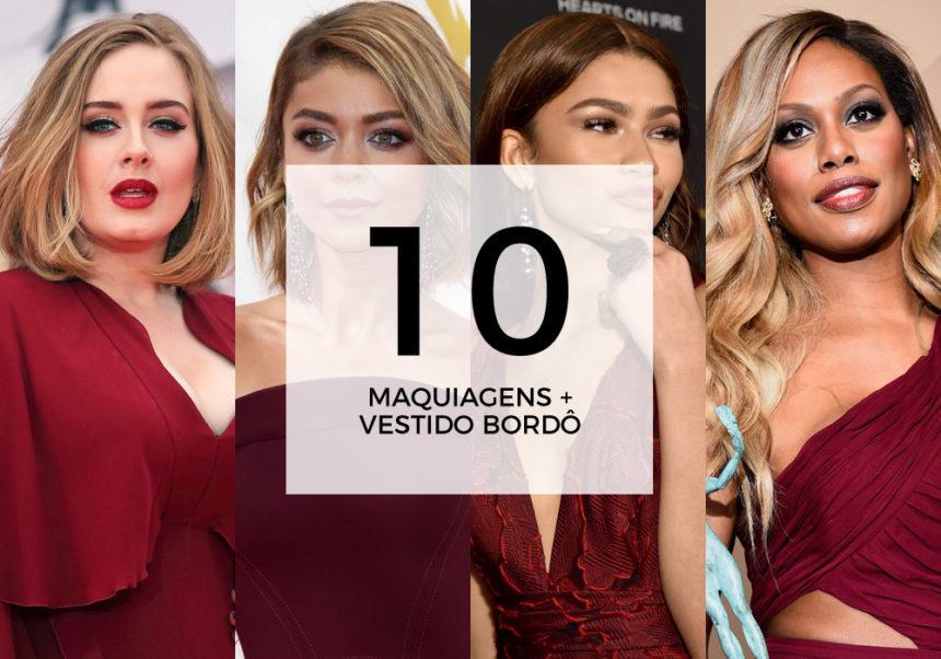 10 maquiagens para combinar com vestido bordô ou borgonha