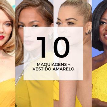 10 maquiagens para combinar com vestido amarelo