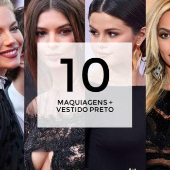 10 maquiagens para combinar com vestido preto