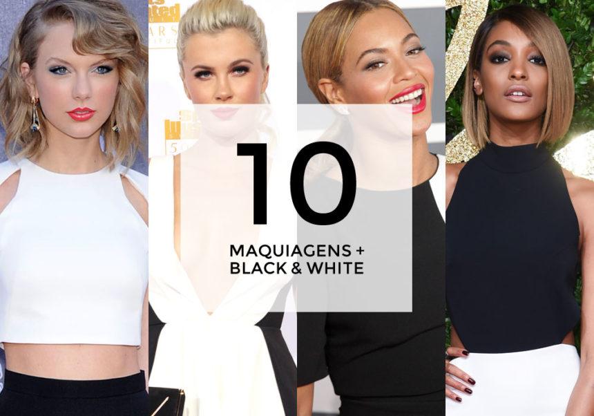 10 maquiagens para combinar com vestido preto e branco