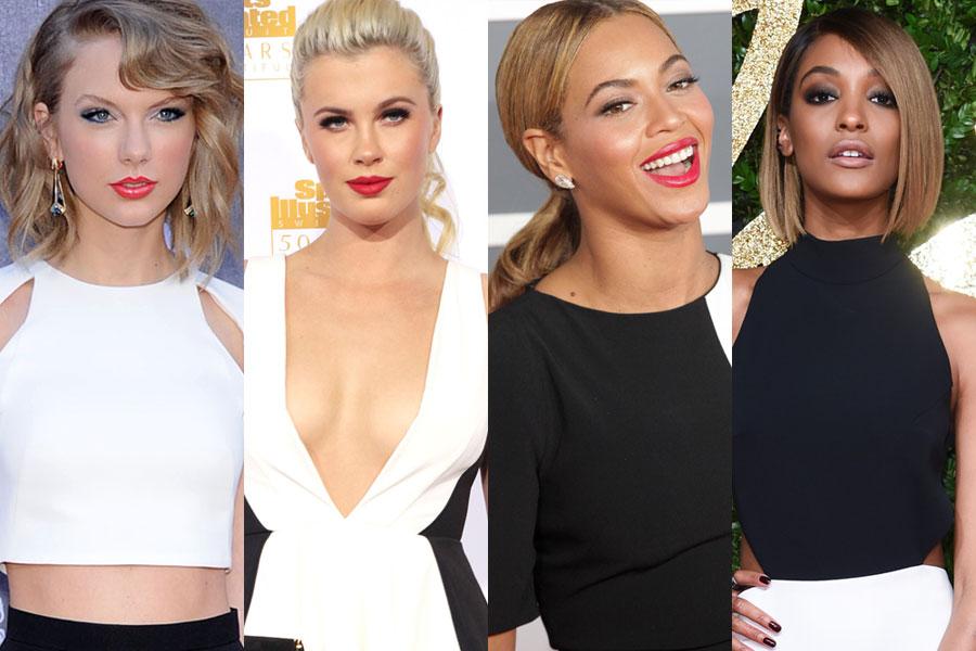 maquiagem para usar com vestido preto e branco