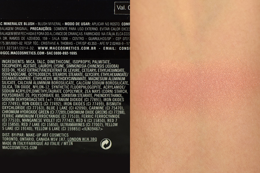 Resenha MAC Mineralize Blush