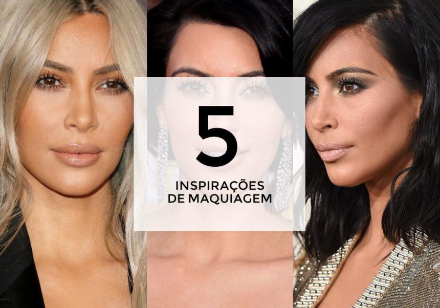 5 inspirações de maquiagem com Kim Kardashian