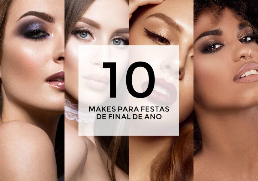 10 inspirações de maquiagem para as festas de final de ano