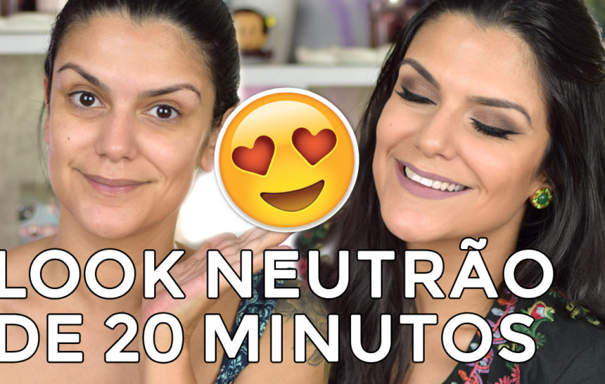 Tutorial: Look neutrão de 20 minutos