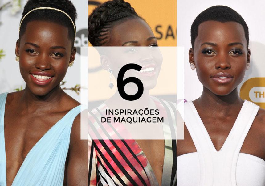 6 inspirações de maquiagem com Lupita Nyong'o