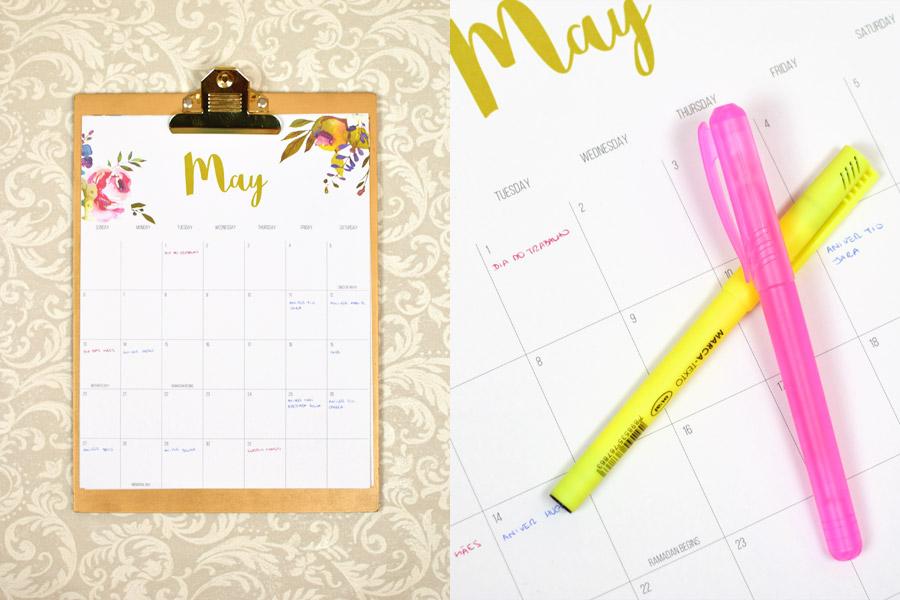 Calendario Fofo De Prancheta 2beauty Marina Smith