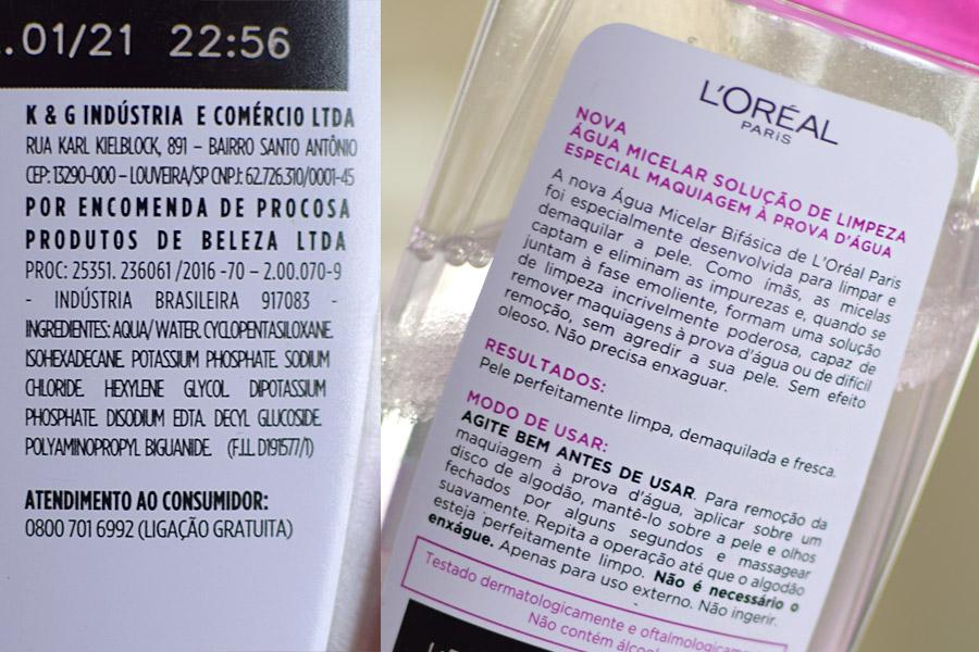 Água Micelar Bifásica L'Oréal