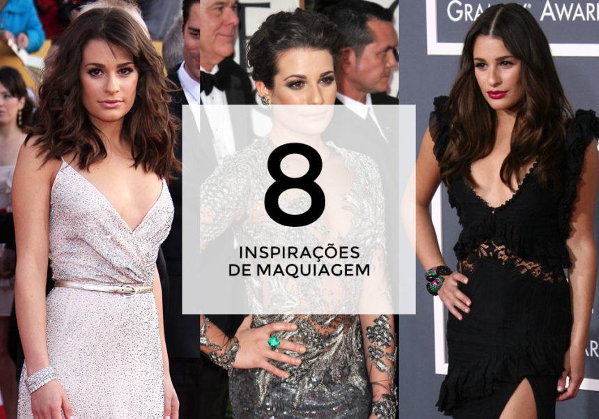 8 inspirações de maquiagem com Lea Michele