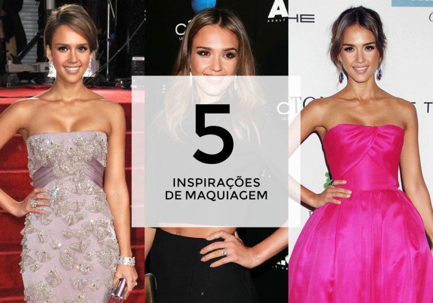 5 inspirações de maquiagem com Jessica Alba