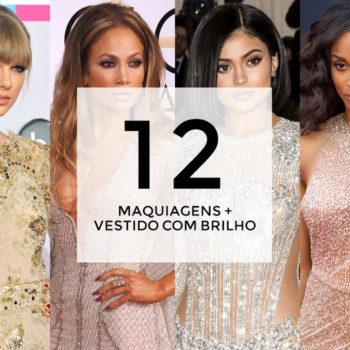 12 maquiagens para combinar com vestido com brilho e bordados