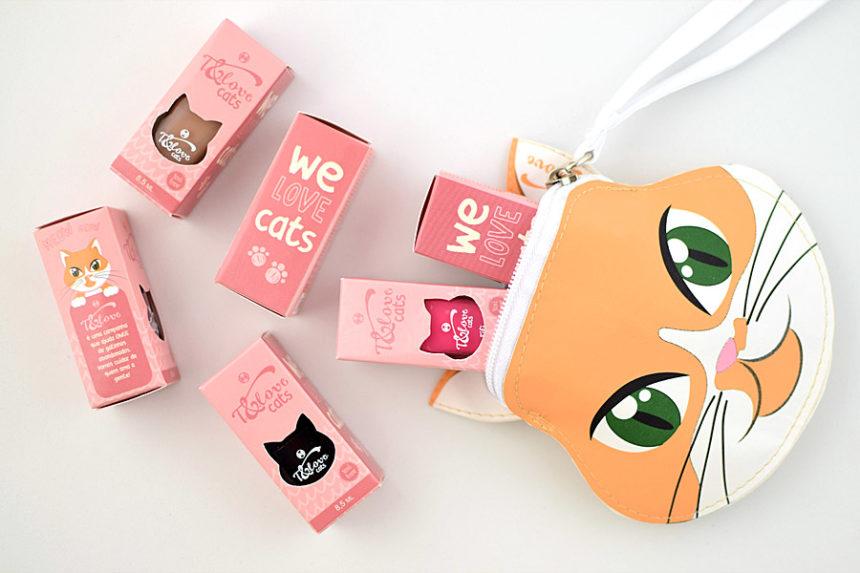 Coleção de esmaltes T&Love Cats