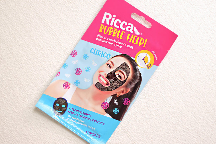 Máscara Facial Ricca Bubble Help