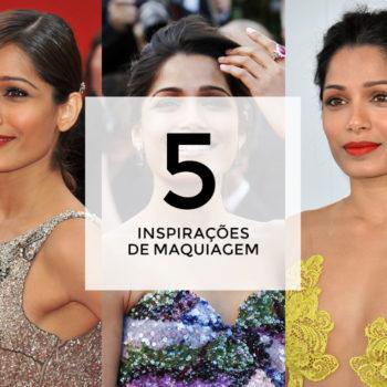 5 inspirações de maquiagem com Freida Pinto