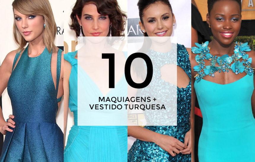 10 maquiagens para combinar com vestido turquesa