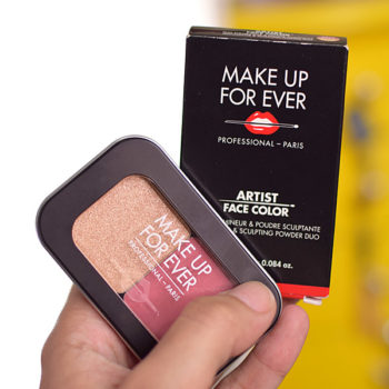Resenha: Make Up For Ever Artist Face Color Highlighter & Sculpting Powder Duo (S214 / H106)