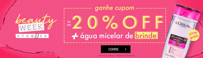 Beauty Week Época Cosméticos 20% OFF + brinde