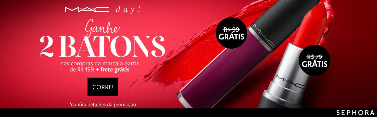 Promo MAC no site da Sephora