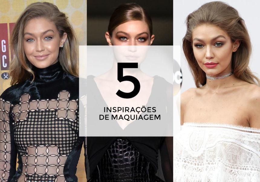 5 inspirações de maquiagem com Gigi Hadid