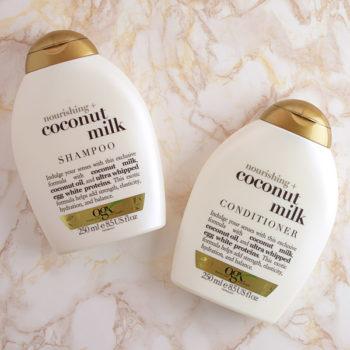 Shampoo e Condicionador OGX Coconut Milk (+ minha rotina de limpeza do último mês)